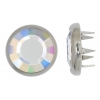 Swarovski 1781/100 2 Part Silver/crystal Aurora Borealis Decorative Button